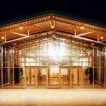 Eingang Messehallen im Globana Airport Messe und Conference Center