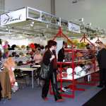 Schuhmesse in den Messehallen des Globana Airport Messe und Conference Center